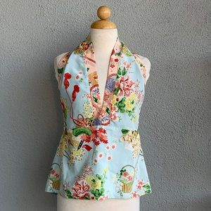 Alice & Trixie Kimono Style Silk Top Size M